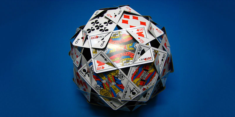 Gambling Round Ball of card Travel